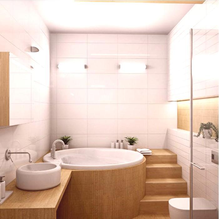 Cuarto de baño: foto y diseño para un pequeño baño ...